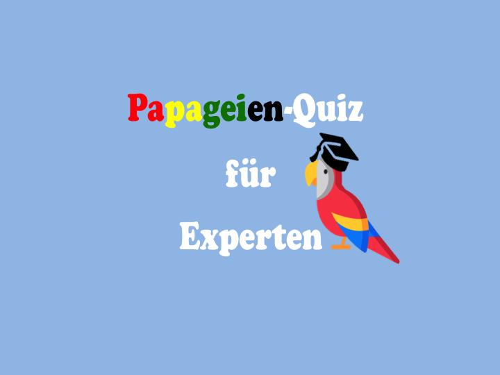 Papageien Quiz für Fortgeschrittene